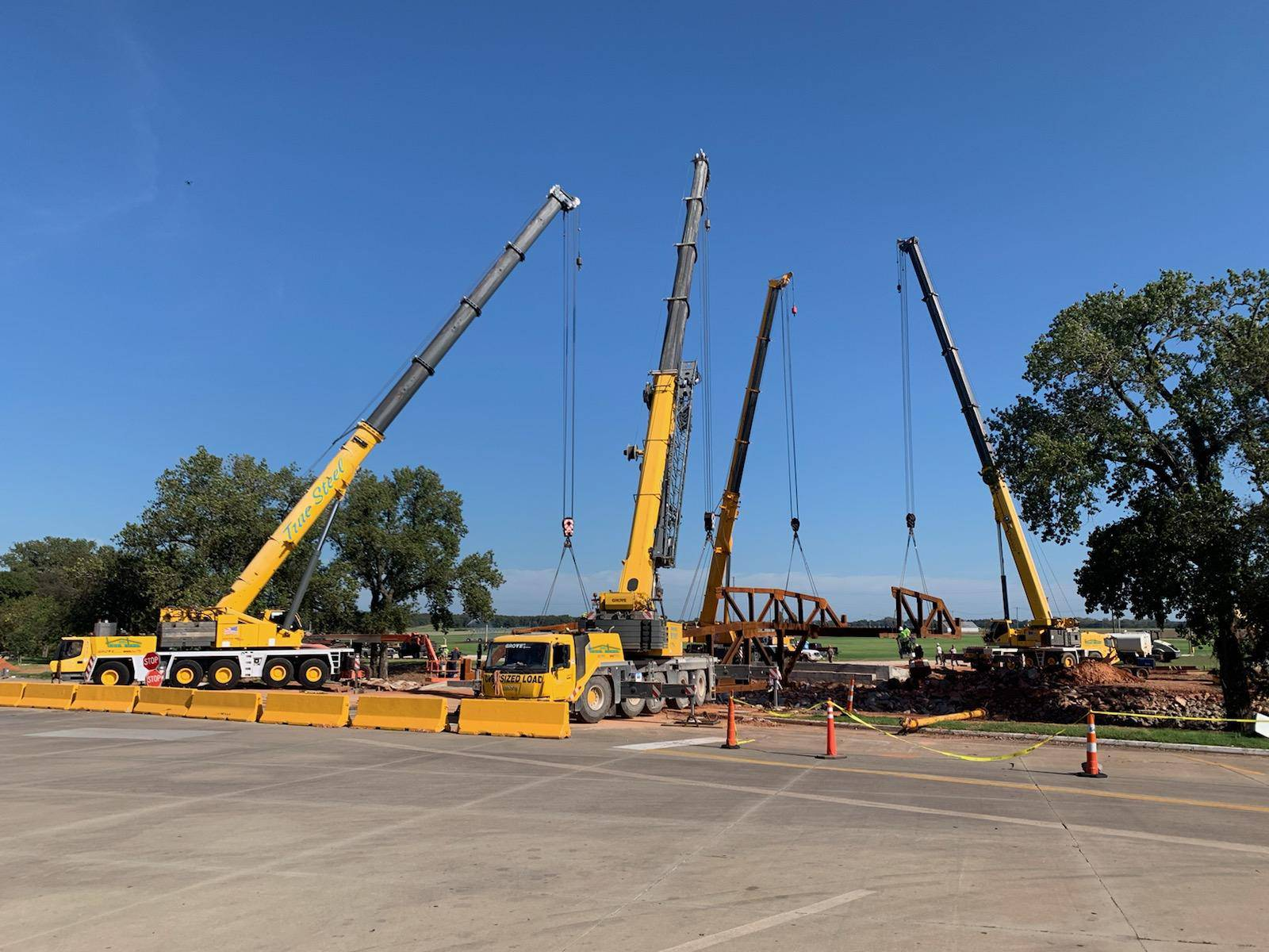 True Steel Crane & Rental - True Steel rental equipment available in OKC, Enid, Ada, and Kingfisher - cranes and equipment at work - crane rental Oklahoma City.