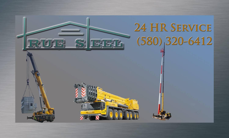 True Steel Crane & Rental - True Steel rental equipment available in OKC, Enid, Ada, and Kingfisher - contact True Steel.
