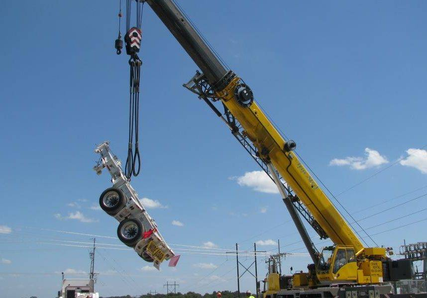 True Steel Crane & Rental - True Steel rental equipment available in OKC, Enid, Ada, and Kingfisher - True Steel's equipment at work.