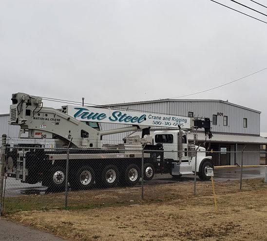 True Steel Crane & Rental - machinery in front of True Steel Crane & Rental Oklahoma City OK OKC location.
